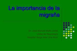 La importància de la migranya